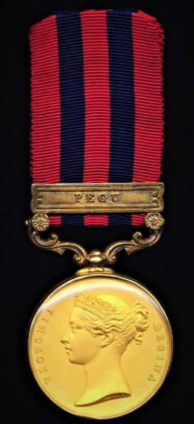 India General Service 1854. Glazed and gilded. With clasp 'Pegu'