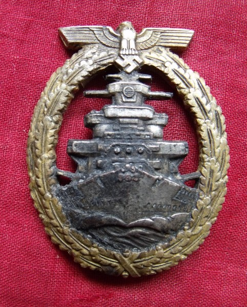 GERMAN WW II HIGH SEAS FLEET BADGE BY ADOLF BOCK AUSF. SCHWERIN