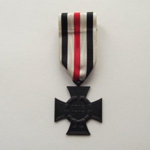 WW1 IMPERIAL GERMAN WIDOWS CROSS & RIBBON