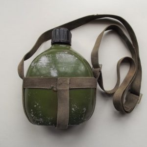 VIETNAM WAR VIET CONG WATERBOTTLE & WEBBING CARRIER