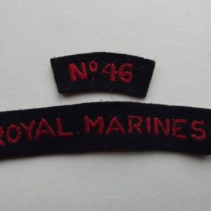 WW2 ROYAL MARINE NO 46 SHOULDER TITLE SET