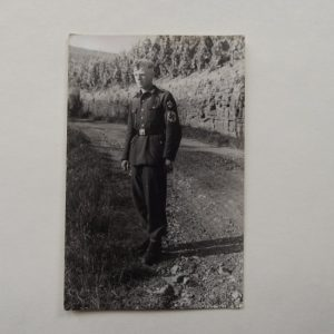 YOUNG GERMAN IN UNIFORM WITH INSIGNIA POSTCARD
