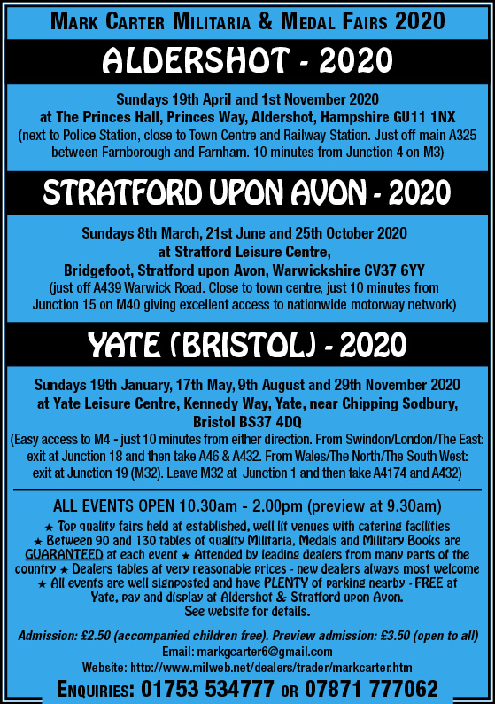 Mark Carter Militaria & Medal Fair – Yate (Bristol)